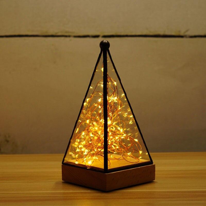 2017 new creative bois lumière nuit lumière arbre arbre argent fleur De Noël lampe lampe d'anniversaire cadeau du Jour de Valentine cadeau