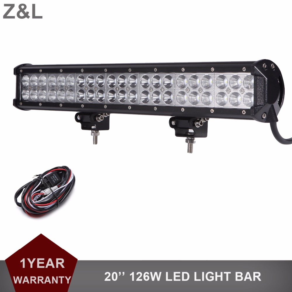 20 126W Offroad LED Light Bar 12V 24V Car Pickup Auto Truck Boat Tractor ATV AWD 4X4 4WD Trailer Yacht Wagon Driving Headlamp offroad 234w led light bar 37 12v 24v off road atv auto suv ute 4x4 truck trailer tractor boat yacht wagon pickup headlight