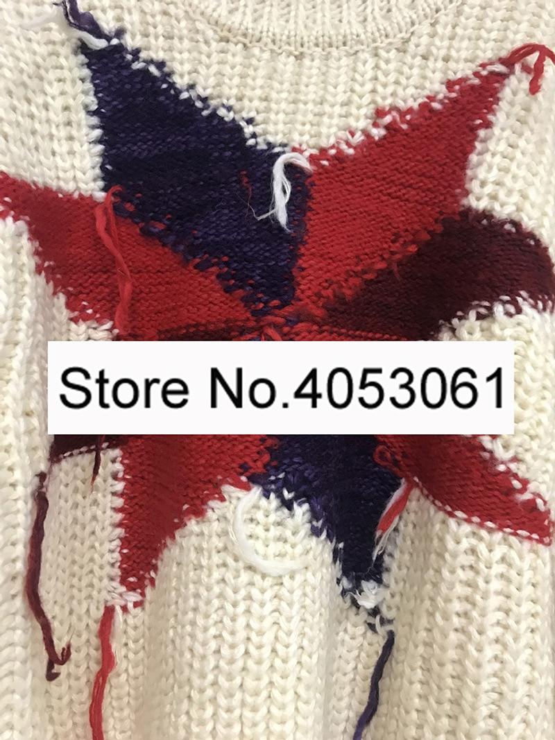 De hiver Col Mélangée Pull Multi 2019 Mode Tricot Stand Pull En À Tricoter Tissage femmes Laine Épais Élégant Contraste Géométrique Automne qpZHwO