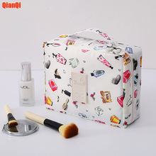 Multifunction travel Cosmetic Bag Neceser Women Makeup Bags Toiletries Organizer Waterproof Female Storage Make up Cases cheap QIANQI Polyester Oxford cloth geometric 18cm 22CM Cosmetic Cases zipper Fashion DF031 Cosmetic storage Makeup Bags Organizer Make up Cases