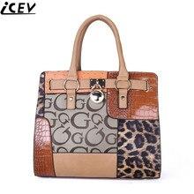 2017 mujeres de los bolsos diseñador PU de cuero de lujo de la oficina OL bolsa de trabajo de las señoras patchwork bolsos marcas famosas hembra grande totalizador
