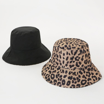 2019 Fall Winter Warm Foldable Knitted Leopard Zebra Bucket Hat for Women Fisherman Hats Floppy Sun Protection Warm Caps stylish mixed color knitted bucket hat for women