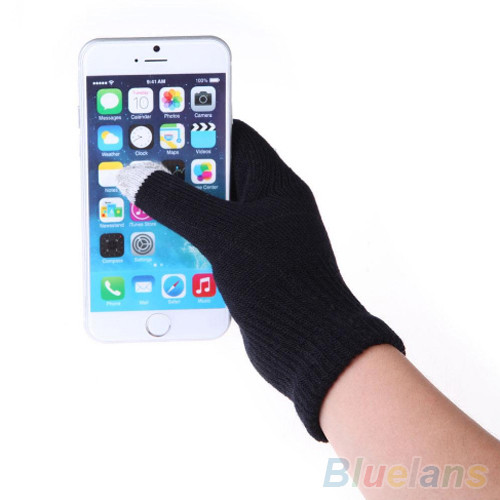 New Women's Men's Knitted Wool Gloves Hand Wrist Touch Screen Gloves