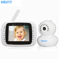 Digital Wireless 3 5inch LCD Video Baby Monitor Radio Baba Eletronicar Infrared Night Vision Rotating Camera