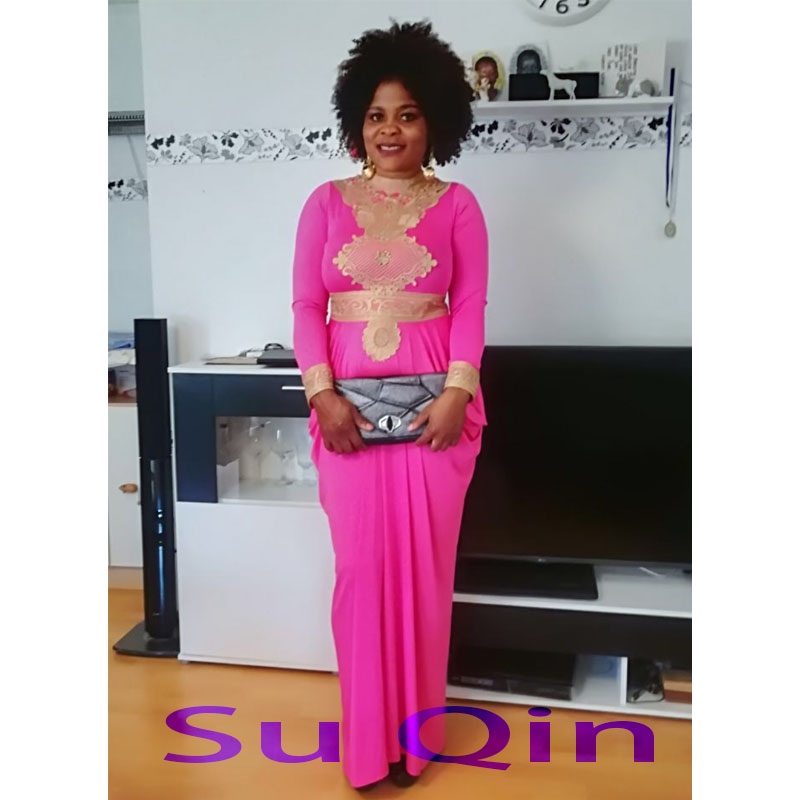 Fashion African Big Elastic Party Embroidery Lace Sexy Dress For Women Fashion Design Lady (GL01#)