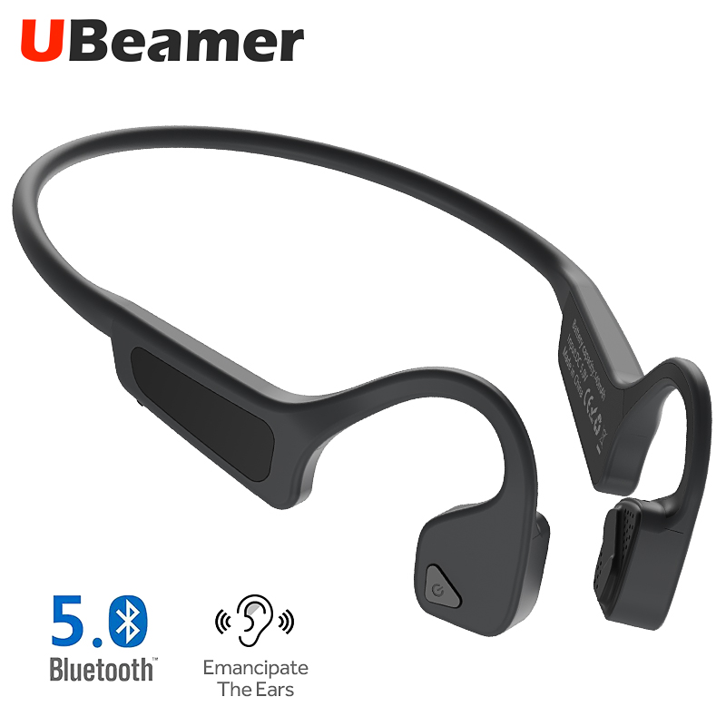 Ubeamer G18 oreille crochet sans fil casque Bluetooth v5.0 étanche CVC appel téléphonique bruit annulation écouteur pour sport musique