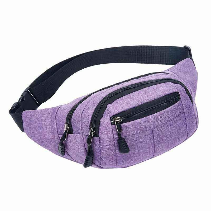 ファッション男性女性ユニセックスカジュアルパックウエストベルトジップポーチファニーウエストパック Zip 形式アウトドアスポーツショルダーバッグ携帯電話胸ヒップパック