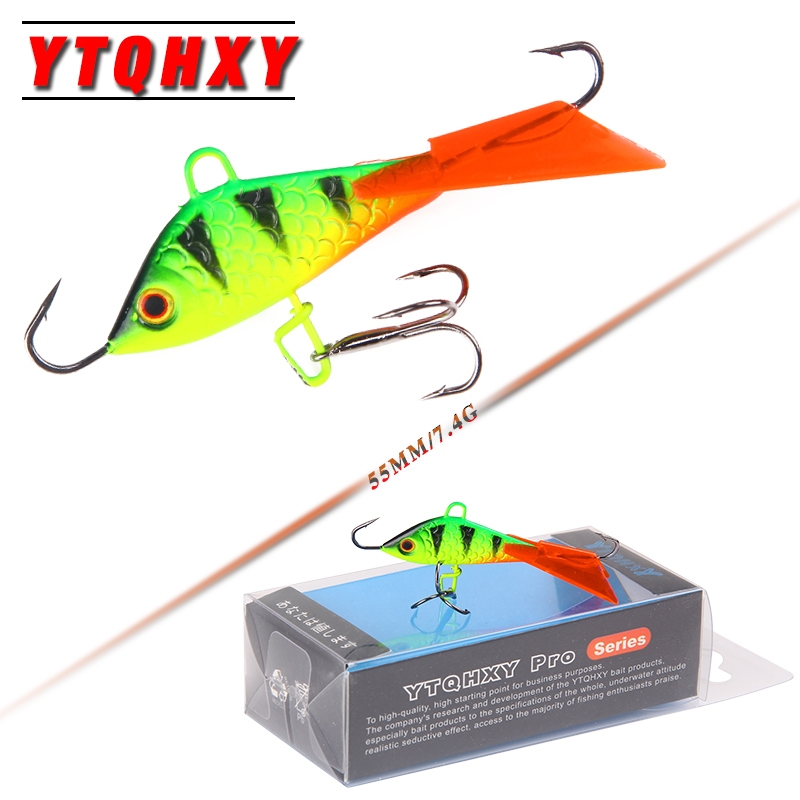 YTQHXY Ice Fishing Lures Winter Hard Bait 55mm 7.4g Balancer for Fishing Baits Lead Jigging Fishing accessories YE-455 nils master baby shad 5cm vertical jigging ice fishing lures