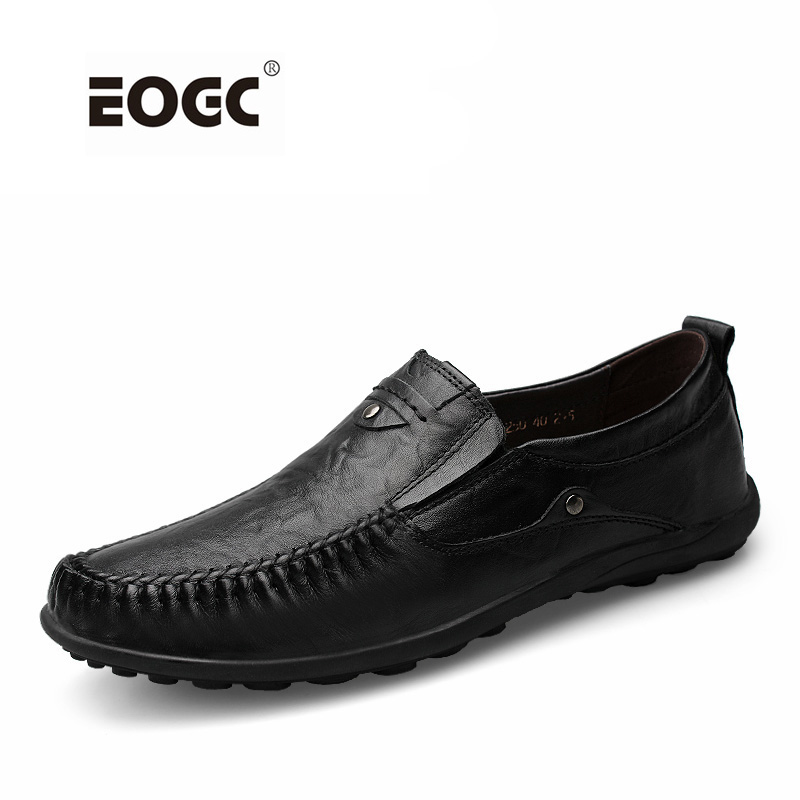 Fashion Shoes Men New Arrival Genuine Leather Men Casual Shoes Soft Loafers Plus Size Handmade Driving Shoes Moccasins new arrival high genuine leather comfortable casual shoes men cow suede loafers shoes soft breathable men flats driving shoes