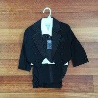 Little Boy Tuxedo/Baby Boy Clothes/Gentleman Bowtie Baby Boys 5 piece Suit Set 118A