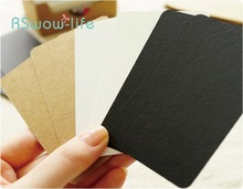 100pcs Manual DIY Bookmark Painting Card Blank Label Message Kraft Paper Elevator Festival Party Supplies