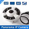1 To 4 Video Cutting Panorama IP Camera 3MP Onvif 1080P 360 Degrees View Fisheye CCTV Camera IR 20M P2P Cloud / IE View