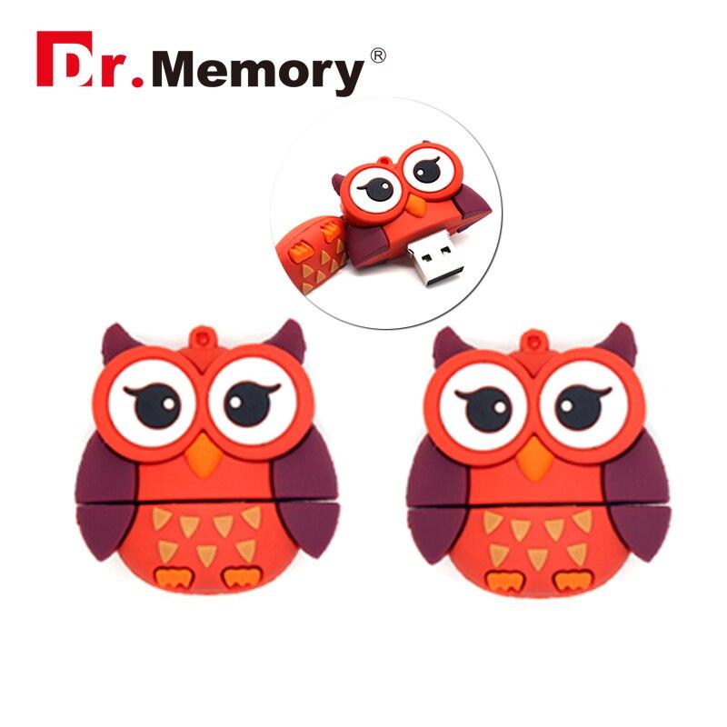 USB flash drive cartoon red owl 16G pen drive 8G pendrive 4G flash card usb 2.0 flash memory stick memory drive usb stick