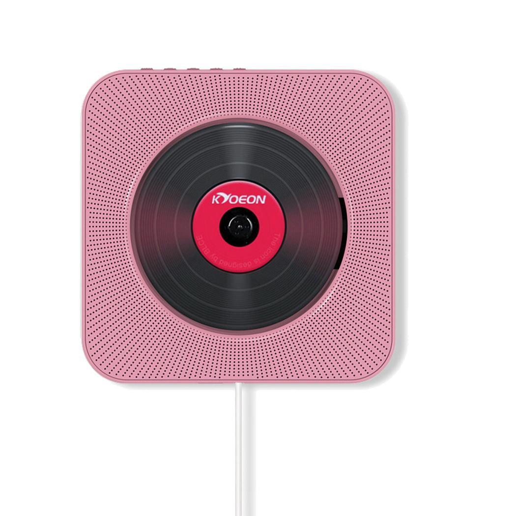 Wall Mounted Bluetooth CD Player Speaker pull the power cable turn on/off. Music Remote Control FM 10W Radio