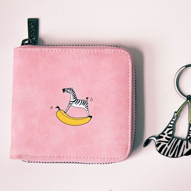 Animal Milk Cow Zebra Dolphin Fox Penguin Prints Short Wallets Girl Zipper PU High Quality Fresh Lady Purses Agile Cut Money Bag