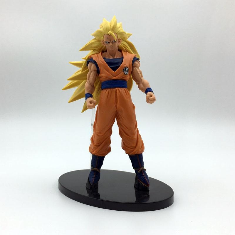 Toys & Hobbies Dragon Ball Z Goku Chocolate Super Saiyan 3 Brush Kneeling Wave Blood Pvc Figure Dbz Collection Model 20cm
