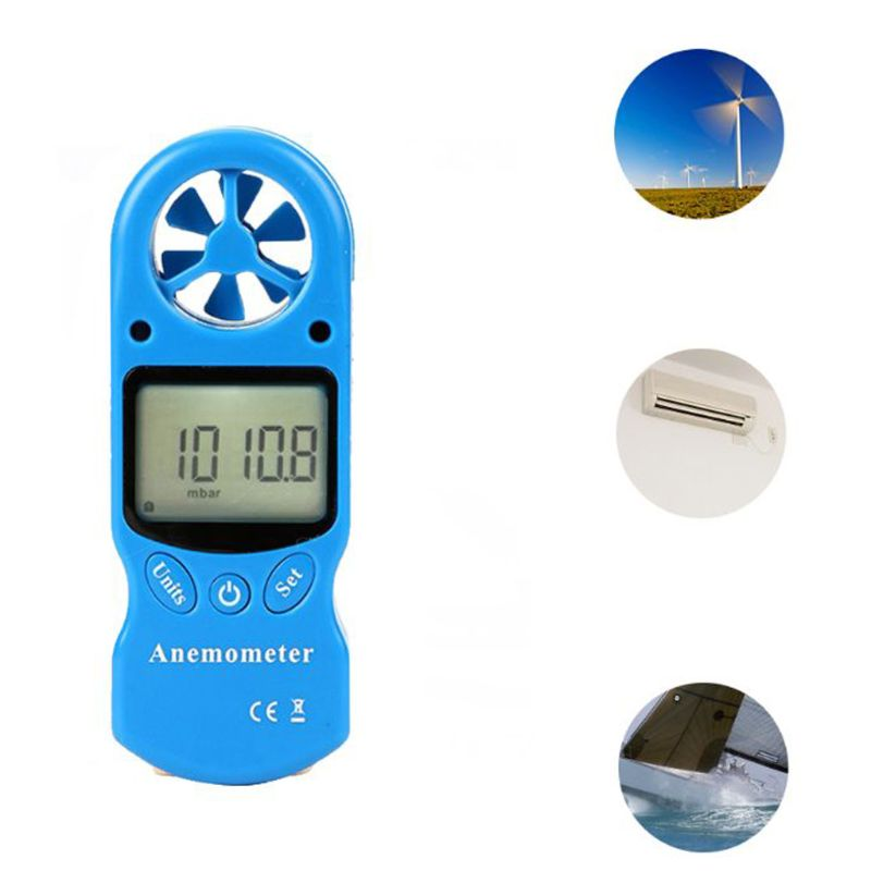 8 in 1 TL 302 Digital Anemometer LCD Display Thermometer Hygrometer Temperature Humidity Wind Speed Chill Barometric Pressure in Speed Measuring Instruments from Tools