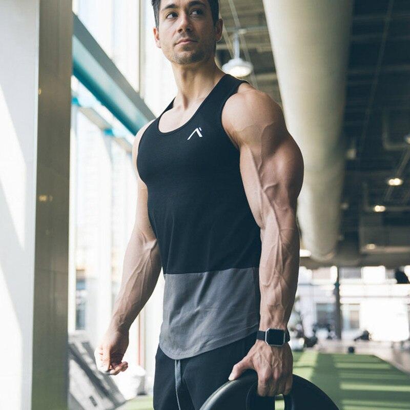 Frank Männer Bodybuilding Baumwolle Tank Top 2018 Neue Turnhallen Fitness Workout Ärmelloses Shirt Casual Sling Weste Mann Unterhemd Tops Kleidung