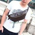 Men PU Leather Travel Cell Mobile Phone Cross Body Messenger Shoulder Sling Chest Purse Bag Pouch
