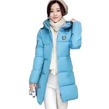 2016 winter new down parka women long plus size slim hooded cotton jacket coat female cotton-padded parka thick warm coat kl392