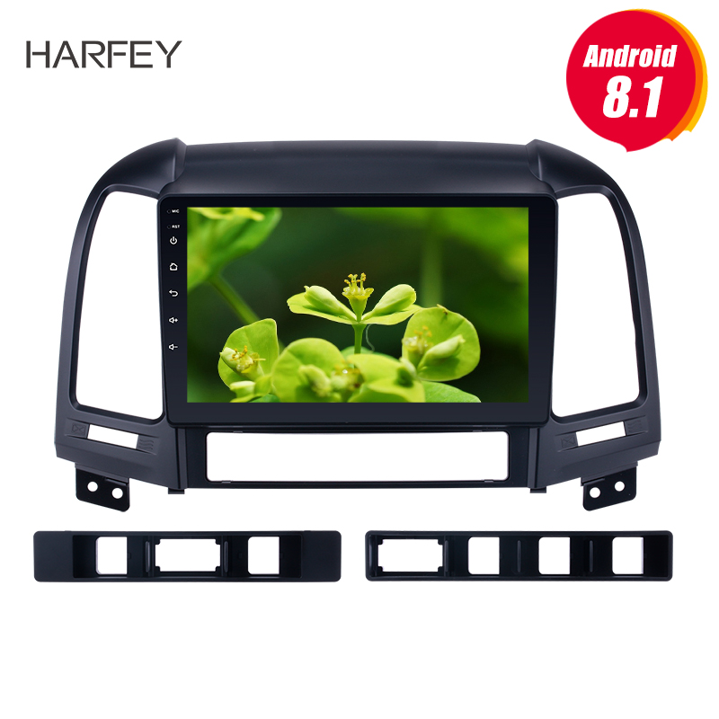 Harfey Android 8.1 for 2005-2012 HYUNDAI SANTA FE Radio with Bluetooth GPS Navigation Car Audio System Touch Screen WiFi 3G