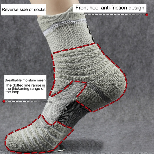 1 Pair Men\'s Cotton Outdoor Sports Socks 6