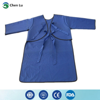 Direct selling hospital/laboratory nuclear radiation protection 0.35mmpb long sleeved lead coat apron x ray protective clothing