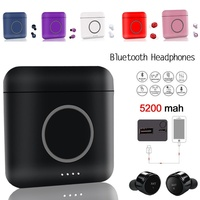 Portable HIFI Bluetooth Earphone With Wireless Charging Storage Box Intelligent Noise Cancelling Headset Touch Control Earphones
