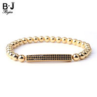 Fashion Bracelet 18K Gold Plated Long Tube Pave Zircon Beaded Men Women Bracelet MBC 20