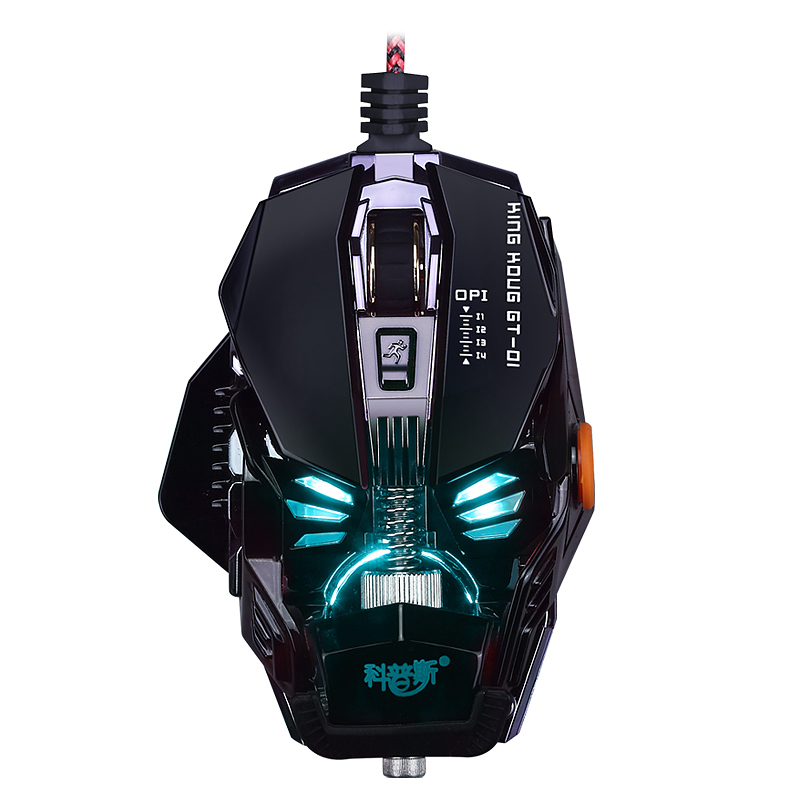 New USB2.0 GT1 1000 to 3500dip adjustable gaming mouse macro editor Mechanical metal weight mouse for LOL CF термоноски guahoo sport mid weight 150 cf bk