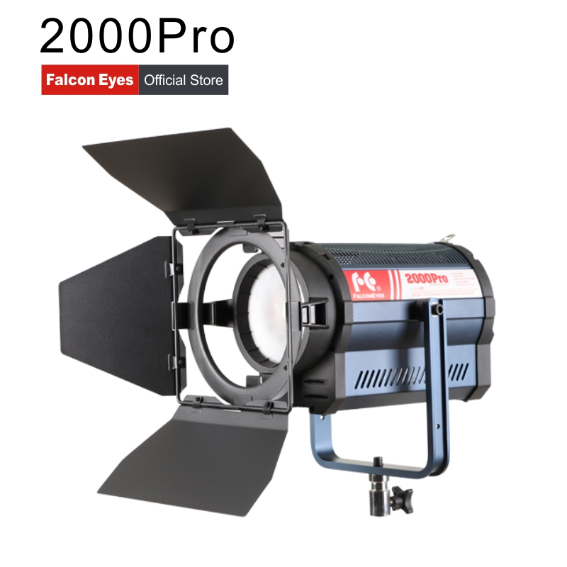 Falconeyes Spotlight 200W Bi Color Led Photo Video Light 3000K 8000K For Studio Film Outdoor Photography