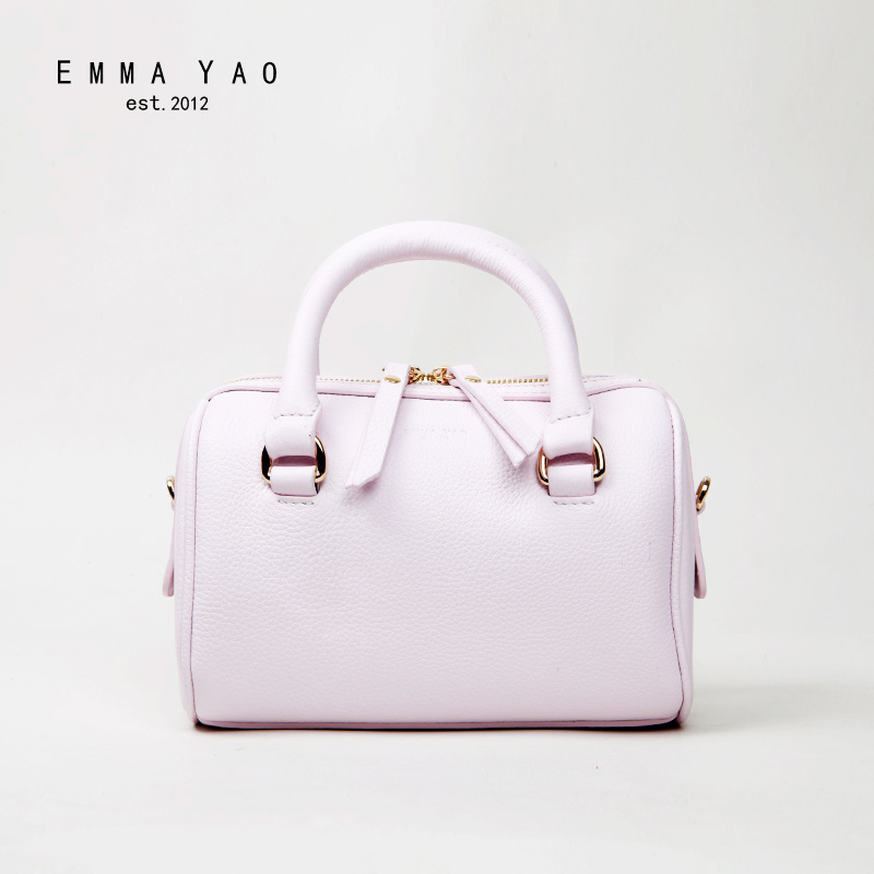 EMMA YAO genuine leather women bag  designer women messenger bags brand shoulder bags emma yao leather women bag fashion korean tote bag new designer women messenger bags