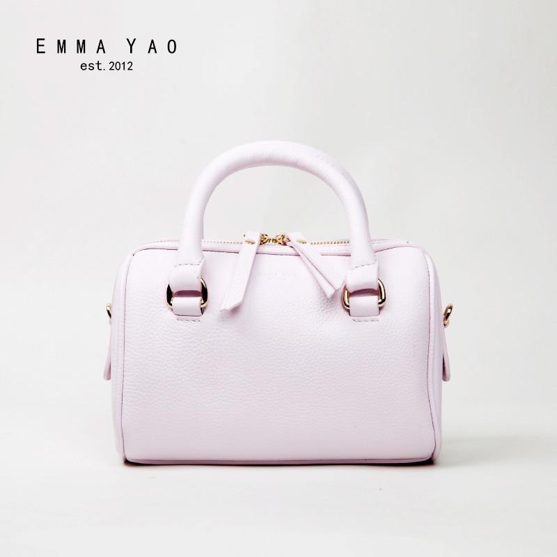 EMMA YAO genuine leather women bag designer women messenger bags brand shoulder bags emma yao women bag leahter shoulder bags famous brand crossbody bags