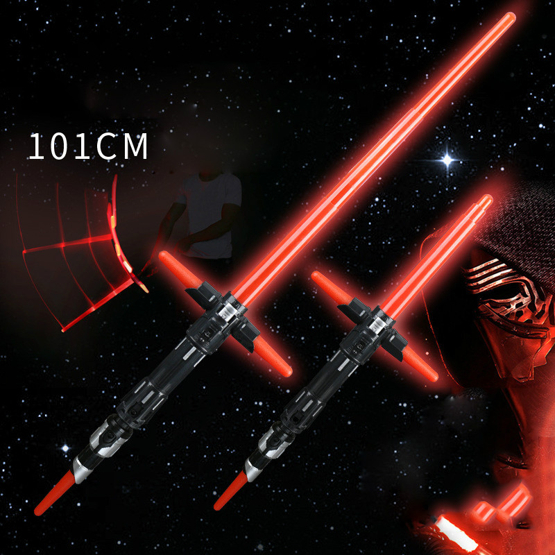101CM Star Wars Lightsaber Last Jedi PVC Telescopic Light Saber Collection Model Hobbies Action Toy Figures Toys For Children
