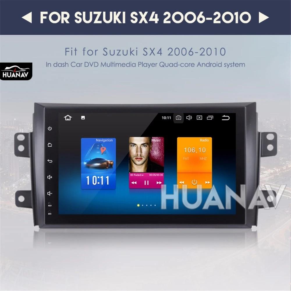 LHWSN F/ür Suzuki SX4 Android Autoradio GPS-Navigation 9Bluetooth Touch-Player USB-FM USB-AUX Telefon Spiegel Link Unterhaltung Multimedia-Stereo-R/ückfahrkamera