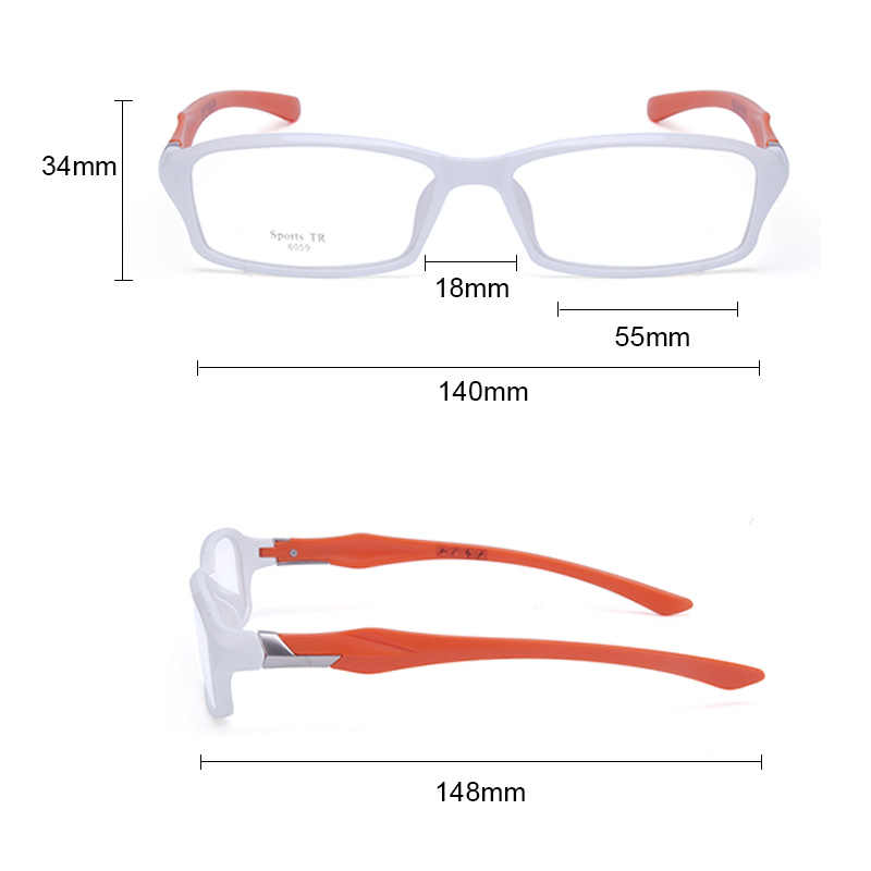 6ff2b2b9a ... Vazrobe Brand Mens Glasses Frame TR90 eyeglass frames male ultra light  prescription spectacles myopia diopter optical ...