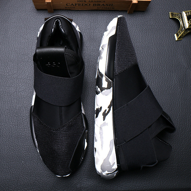 3bd0cd0e29f8b summer men s Elastic cloth stitching breathable mesh casual shoes Y3  Camouflage Yohji Slip On for Men walking Shoes