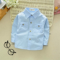 White Shirt For Boy In School 2018 Fashion Autumn Baby Boys Blouse Long Sleeve Kids Clothes
