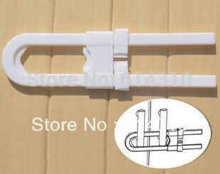 10pcs/lot  Baby Safety Cabinet Lock Kitchen Cabinet Handle Lock Simple Safety Lock Drawer Lock