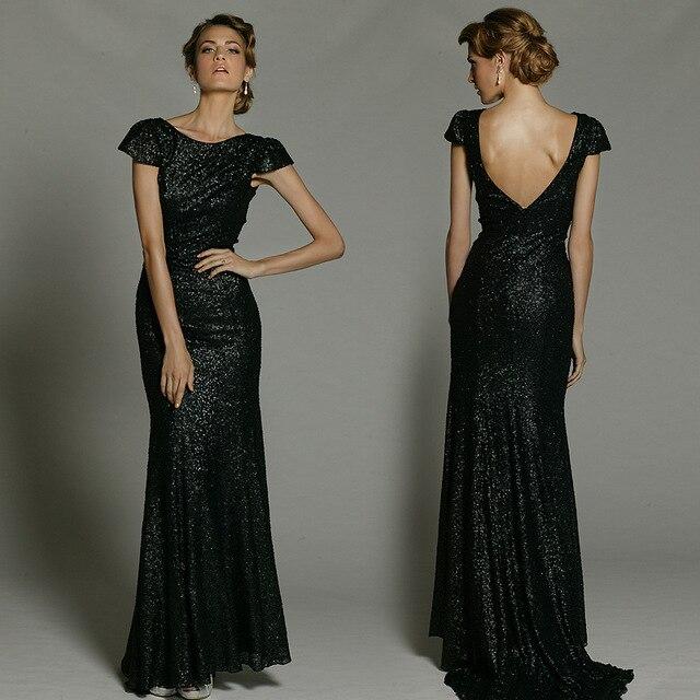 Black sparkly long dresses