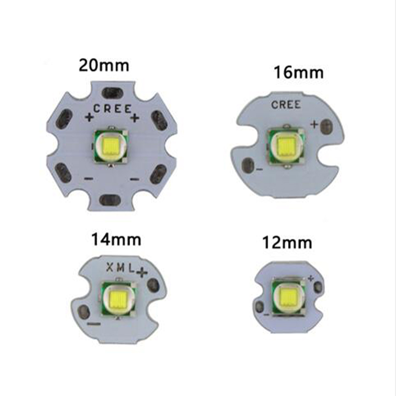 1 Pack CREE XML XM-L T6 LED U2 10W WHITE High Power LED Emitter with 12mm 14mm 16mm 20mm PCB for DIY