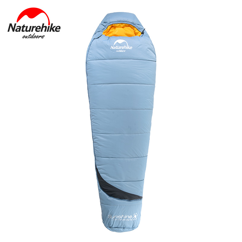 Naturehike Outdoor Camping Waterproof Sleeping Bag Ultralight Camping Sleeping Bag Adult Spring Portable Compression Sack naturehike waterproof mummy camping sleeping bag cutton lining winter outdoor ultralight warmth camping sleeping bag nh15s013 d