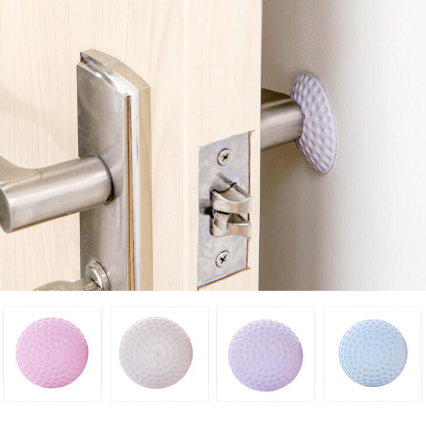 High Qaulity 2018 DIY Door Doorknob Back Wall Protector Savor Shockproof Crash Pad Wallpaper Wall Stickers
