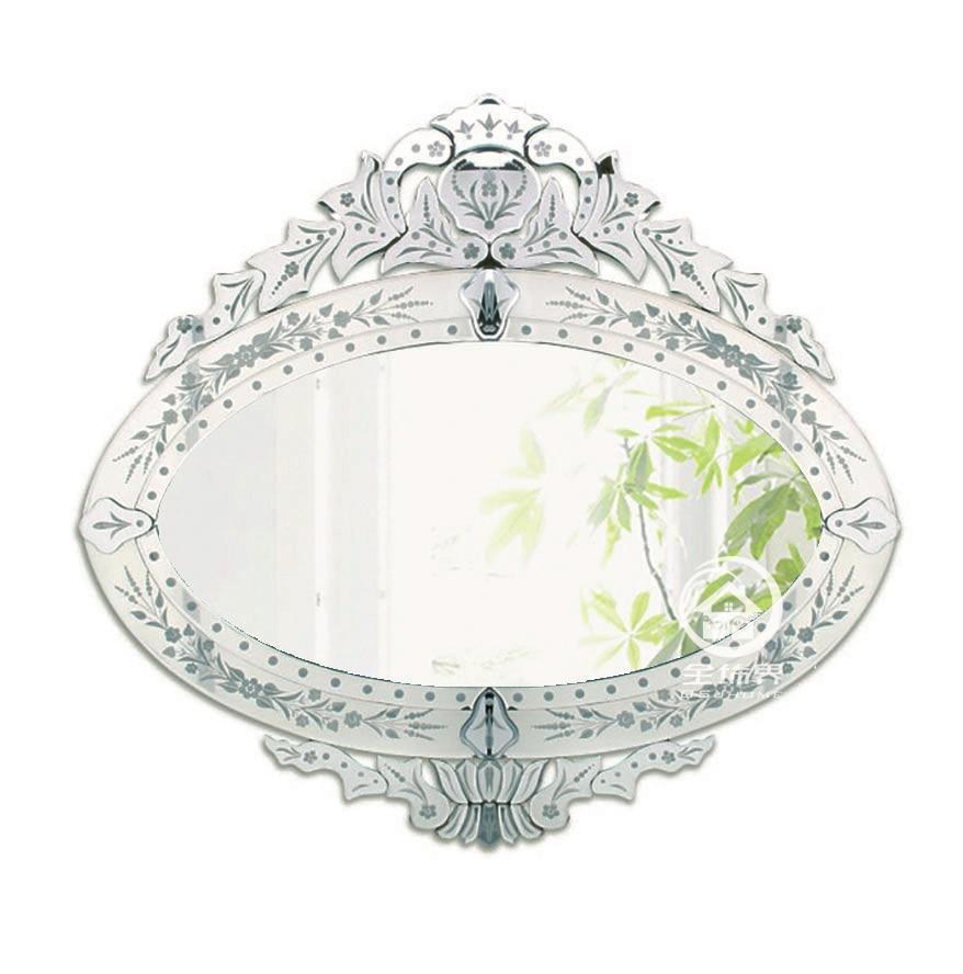 Hot Sale Modern Wall Glass Vanity Mirror Venice Venetian Mirror Wall Decorative Mirrored Art Console Mirror May 2020