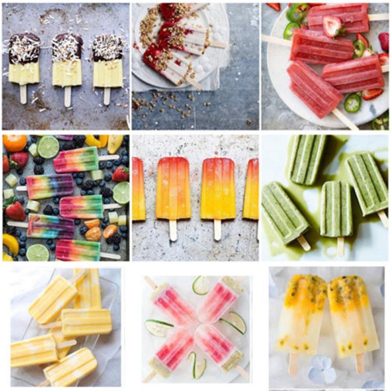 10 Cell Frozen Ice Cream Lolly Juice Maker Pop Mold Mould Popsicle Yogurt Icebox