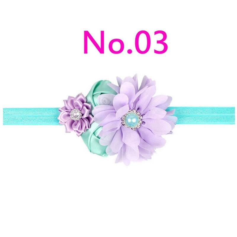 2017 Handwork Pearl 6 Styles Mix 4 Flower Flower Headband Wide - Киімге арналған аксессуарлар - фото 4