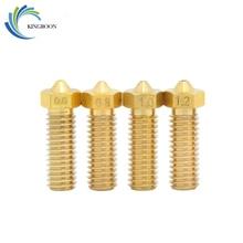 Volkan Ağız Nozullar Bakır 3D Yazıcılar Parçaları 0.6mm 0.8mm 1mm 1.2mm Için 1.75/3mm filament Ekstruder Malzemeleri Uzatmak Pir...
