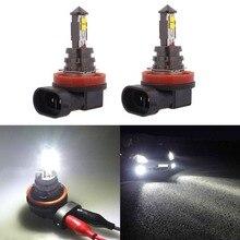 Fuleem 2 шт. H8 H11 светодиодный противотуманный свет лампы 20 Вт супер яркий для DRL Габаритные огни ксенон белый 6000 K 12 V