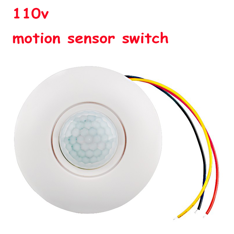 High sensitivity ac110v ceiling mounted pir motion sensor light high sensitivity ac110v ceiling mounted pir motion sensor light switch time delay 110v motion sensor switch 1pc aloadofball Gallery