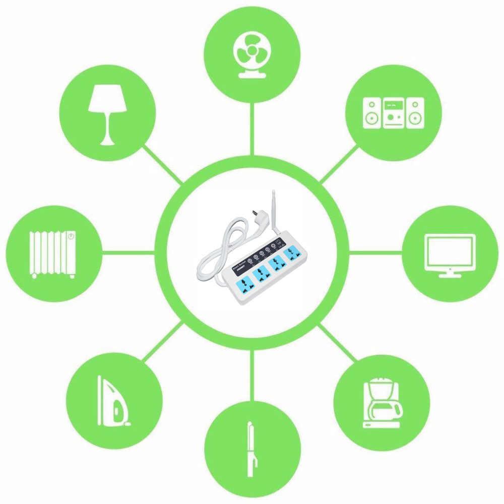 LPSECURITY 4 розетки дистанционное управление GSM PDA RC беспроводной умный переключатель разъем питания Модуль управления Лер с датчиком температуры